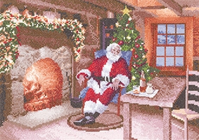 click here to view larger image of Santa's Job Done (counted cross stitch kit)