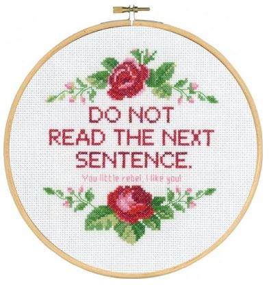 click here to view larger image of Do Not Read (counted cross stitch kit)