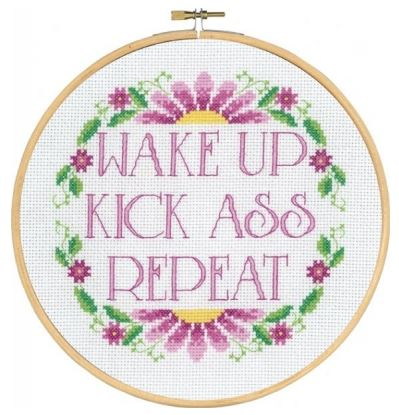 click here to view larger image of Wake Up (counted cross stitch kit)
