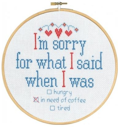 click here to view larger image of I'm Sorry (counted cross stitch kit)