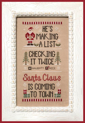 click here to view larger image of Santa's List (chart)