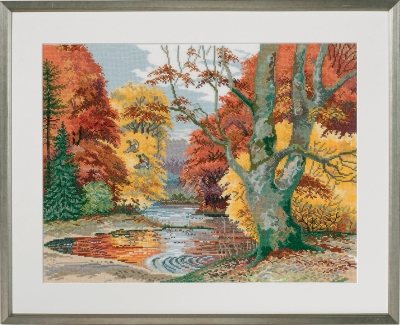 click here to view larger image of Forest Lake (counted cross stitch kit)