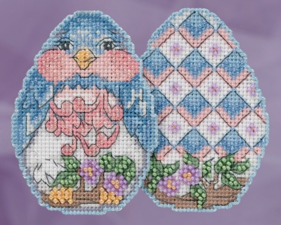 click here to view larger image of Bluebird Egg (counted cross stitch kit)