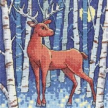 click here to view larger image of Stag Woodland Creatures (counted cross stitch kit)