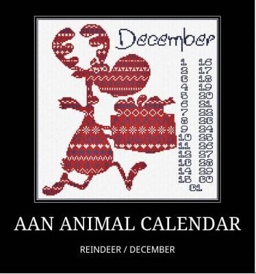 click here to view larger image of December - Reindeer (chart)