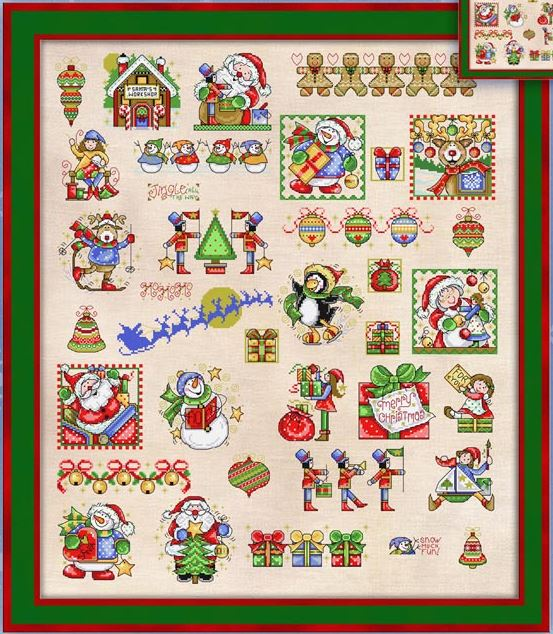 click here to view larger image of Christmas Library (chart)