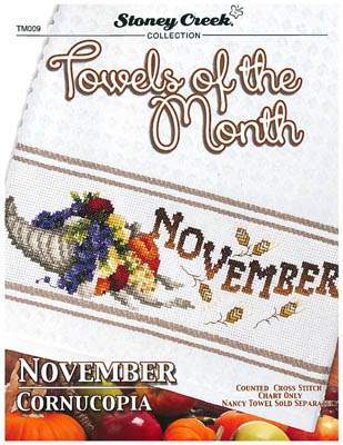 click here to view larger image of Towels of the Month - November (chart)