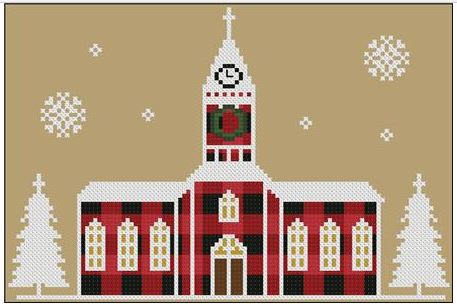 click here to view larger image of Church - Rustic Christmas Series (chart)