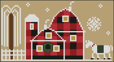 click here to view larger image of Old Barn - Rustic Christmas Series (chart)