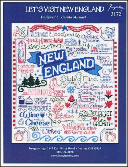 click here to view larger image of Let's Visit New England (chart)