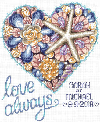 click here to view larger image of Seashell Wedding Heart (chart)