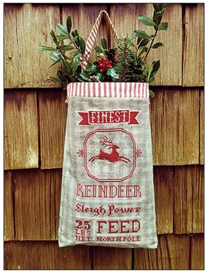 click here to view larger image of Reindeer Feed Sack (chart)