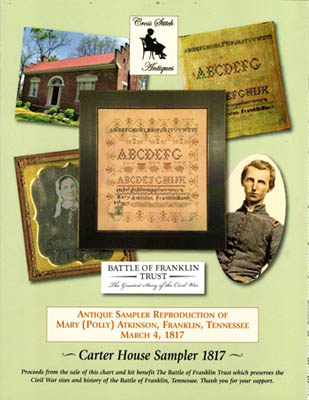 click here to view larger image of Carter House Sampler 1817 (Cross Stitch Antiques) (chart)