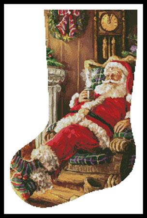 click here to view larger image of Santa Resting Stocking (Left) (chart)