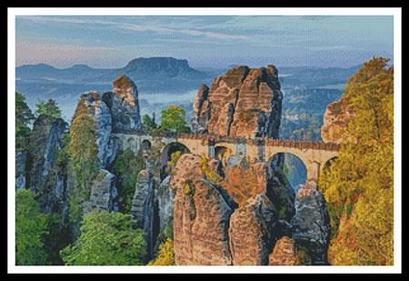 click here to view larger image of Bastei Bridge, Germany  (Julius Silver) (chart)
