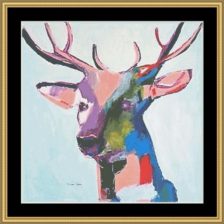 click here to view larger image of Artsy Deer II (chart)