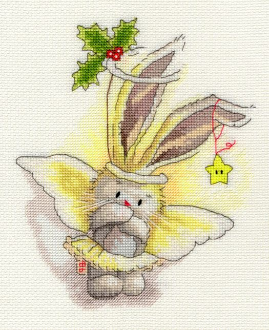 click here to view larger image of Angel (counted cross stitch kit)