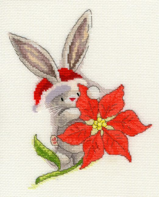 click here to view larger image of Poinsettia (counted cross stitch kit)