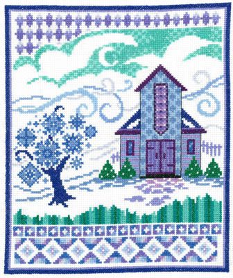 click here to view larger image of Barn With Winter Quilts (chart)