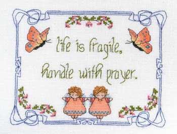 click here to view larger image of Life Is Fragile - Handle WithPrayer (chart)
