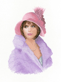 click here to view larger image of Harriet - Elegance by John Clayton (counted cross stitch kit)