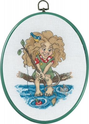click here to view larger image of Troll Fishing (counted cross stitch kit)