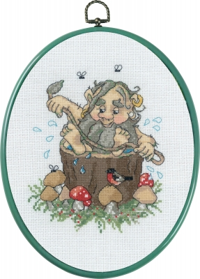 click here to view larger image of Troll Dad (counted cross stitch kit)