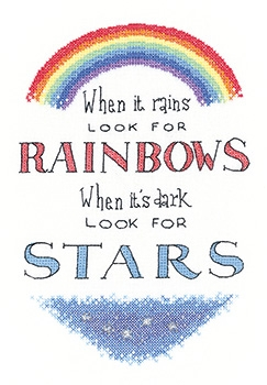 click here to view larger image of Look For Rainbows - Peter Underhill Collection (counted cross stitch kit)