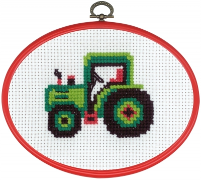 click here to view larger image of MFK Tractor (counted cross stitch kit)
