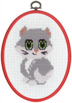 click here to view larger image of MFK Grey Cat (counted cross stitch kit)