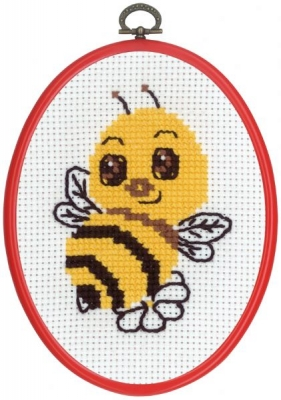 click here to view larger image of MFK Bee (counted cross stitch kit)