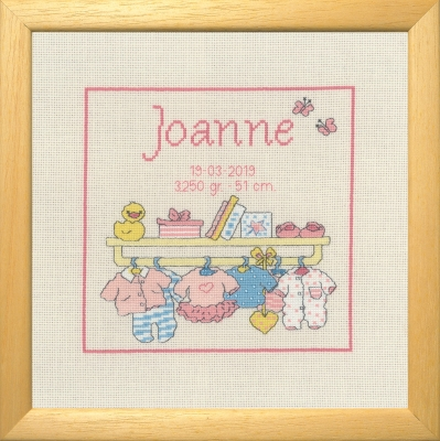 click here to view larger image of Bobbi Joanne - Birth Announcement (counted cross stitch kit)