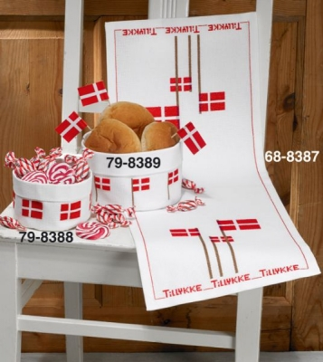 click here to view larger image of Small Basket With Flags (lower left) (counted cross stitch kit)