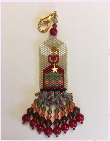click here to view larger image of Winter Angel Fob (bead kit)