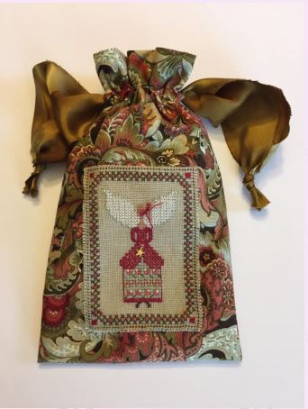 click here to view larger image of Winter Angel Stitching Bag (bead kit)