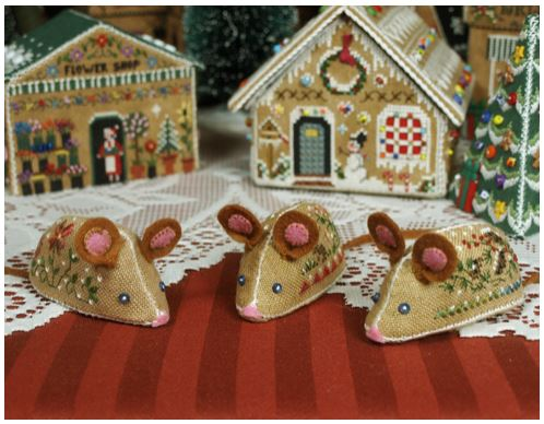 click here to view larger image of Gingerbread Mice Ornaments (chart)