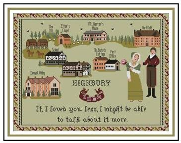 click here to view larger image of Emma of Highbury Sampler (chart)
