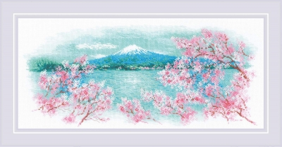 click here to view larger image of Sakura - Fugi (counted cross stitch kit)