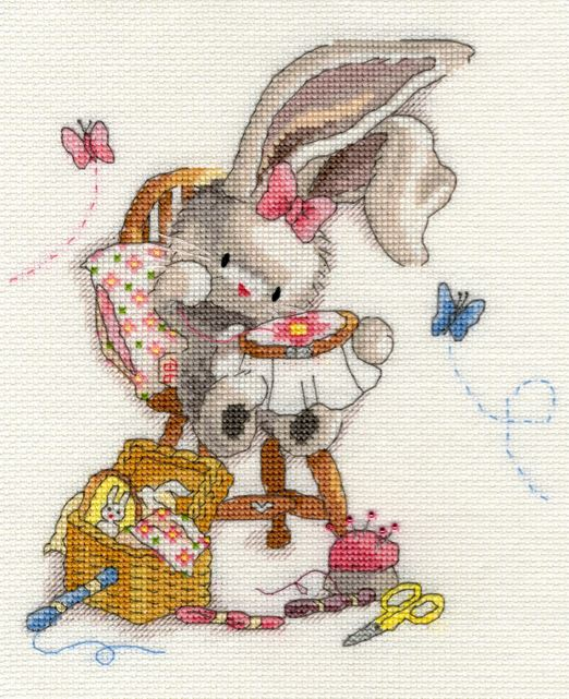 click here to view larger image of Bebunni - Sewn with Love (counted cross stitch kit)