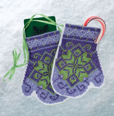 click here to view larger image of Star Mittens (2018) (counted cross stitch kit)