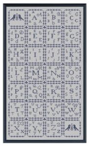 click here to view larger image of Alphabet Sampler (chart)