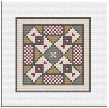 click here to view larger image of Antioch Mosaic Quilt Block (chart)