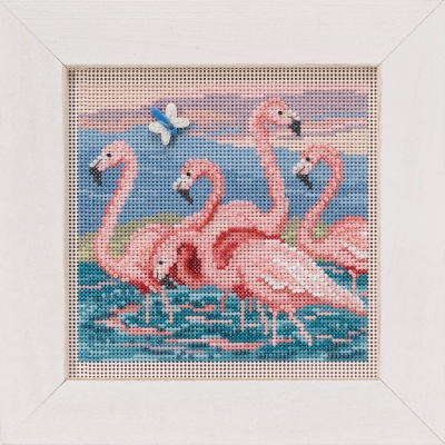 click here to view larger image of Flamingos (button-bead kit)