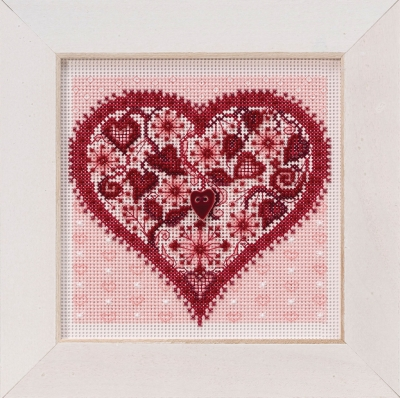 click here to view larger image of Valentine Heart (button-bead kit)
