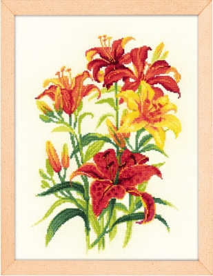 click here to view larger image of Tiger Lilies (counted cross stitch kit)