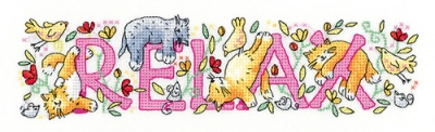 click here to view larger image of Relax - Karen Carter Collection (counted cross stitch kit)