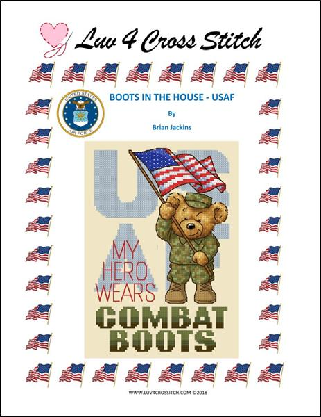 click here to view larger image of Boots In The House - Air Force (chart)