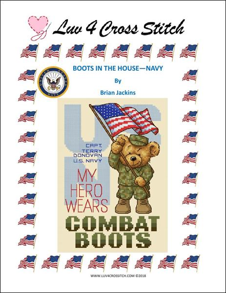 click here to view larger image of Boots In The House - Navy (chart)