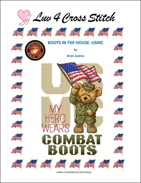 click here to view larger image of Boots In The House - USMC (chart)