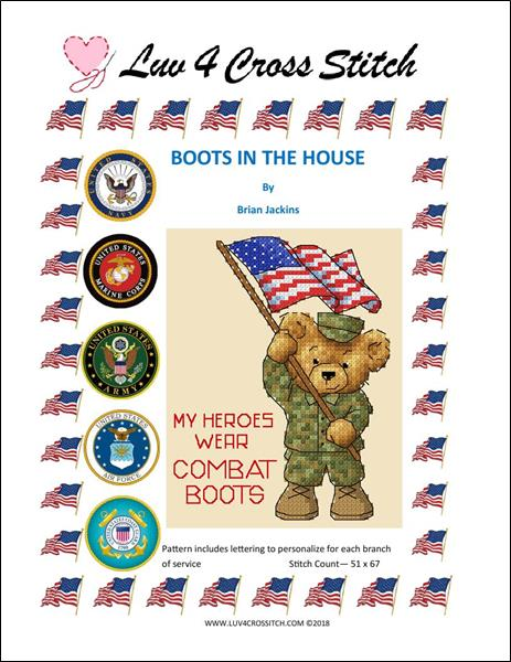 click here to view larger image of Boots In The House - All Branches of Service (chart)